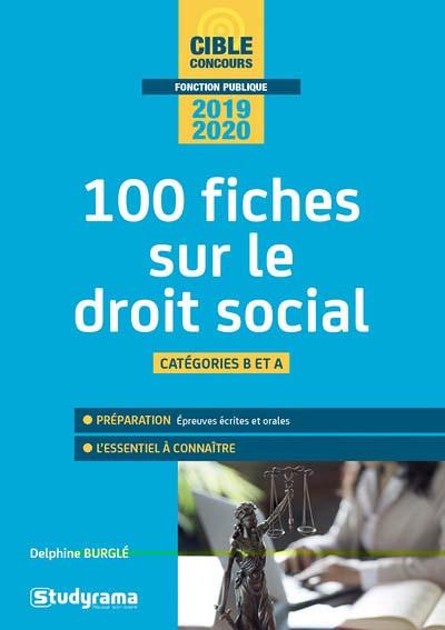100 fiches sur le droit social 2019-2020