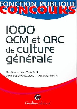 1000 QCM et QRC de culture générale