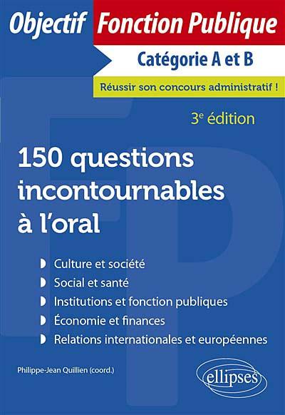 150 questions incontournables à l'oral