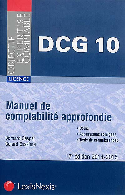 DCG 10 - Manuel de comptabilité approfondie