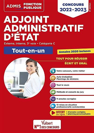 Adjoint administratif d'État : concours 2022-2023