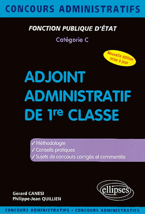 Adjoint administratif de 1re classe
