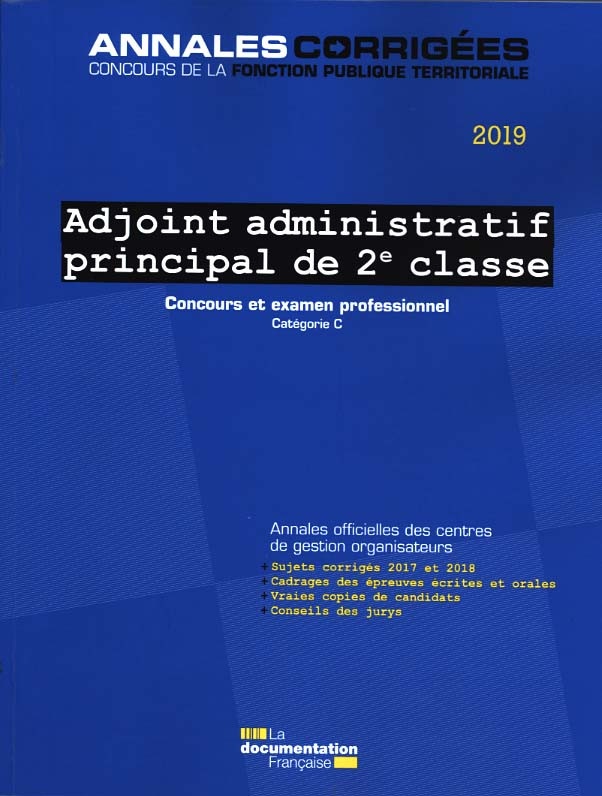 Adjoint administratif principal de 2e classe 2019