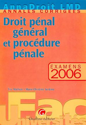 Anna Droit 2006 - Droit pénal et procédure pénale