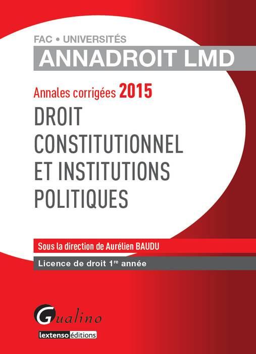 AnnaDroit LMD - Droit constitutionnel et institutions politiques