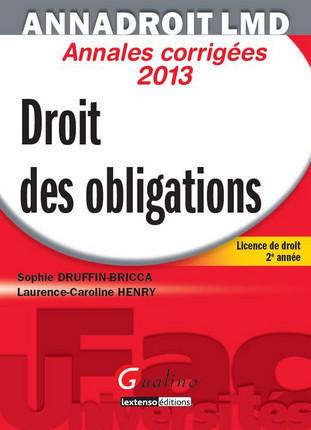 AnnaDroit LMD - Droit des obligations 2013