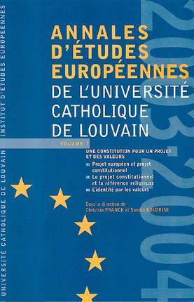 Annales d'études européennes de l'Université Catholique de Louvain