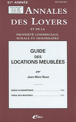 Annales des loyers, 57e année, juillet-août 2005 N°7-8