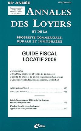 Annales des loyers, 58e année, février-mars 2006 N°2-3