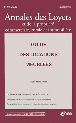 Annales des loyers 61ème, novembre 2009