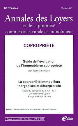 Annales des loyers, 62 e année, mai-juin 2011