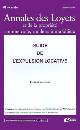 Annales des loyers, 62e année, novembre 2011