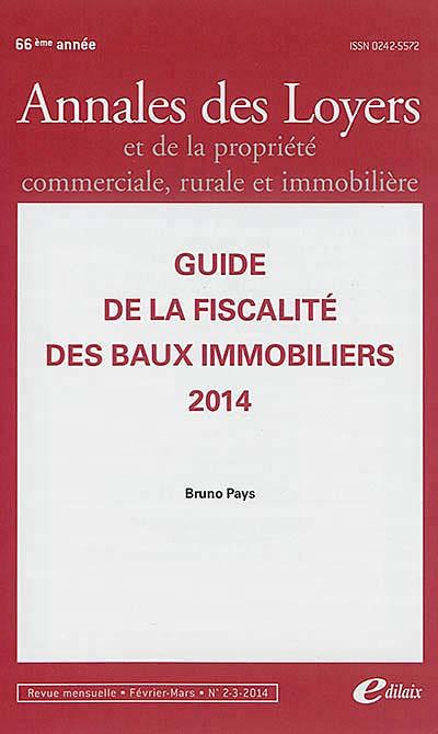 Annales des loyers, 66e année, février-mars 2014 N°2-3