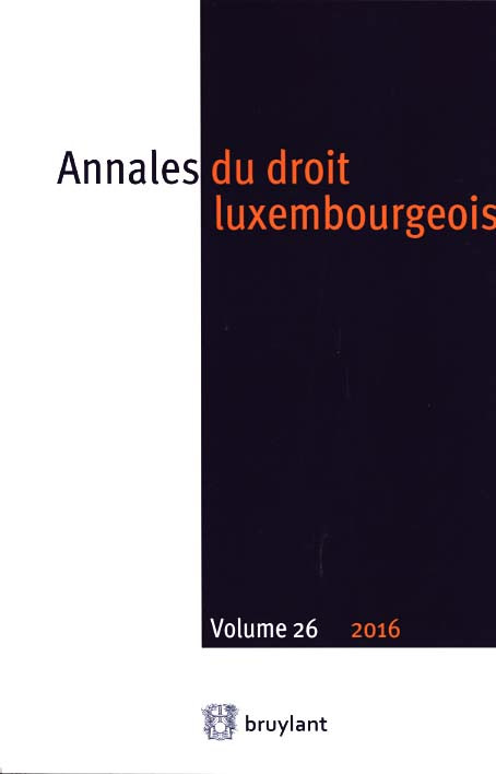 Annales du droit luxembourgeois 2016