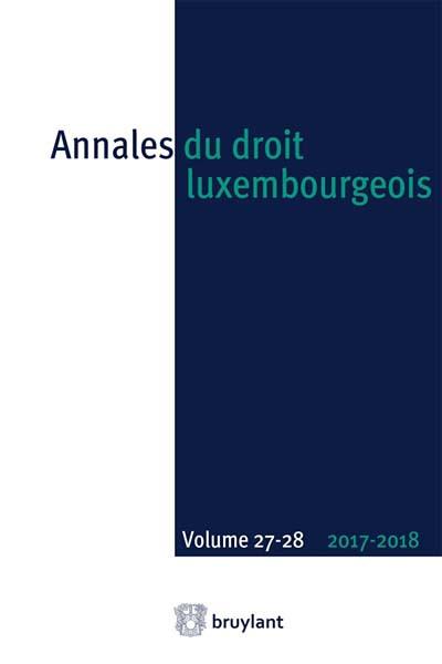 Annales du droit luxembourgeois 2017-2018