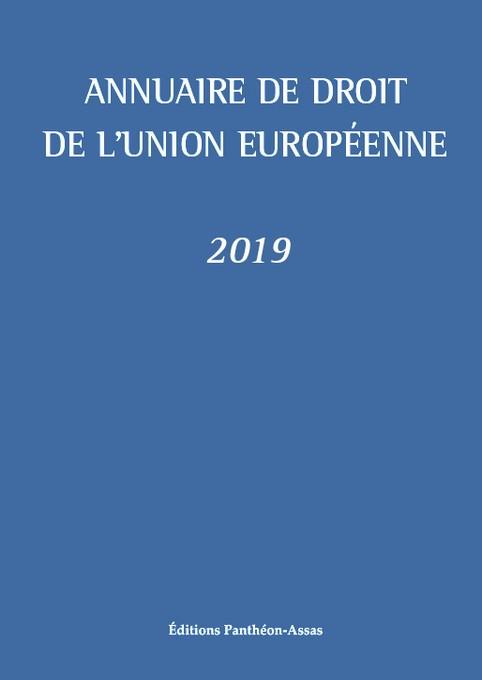 Annuaire de droit de l'Union européenne 2019