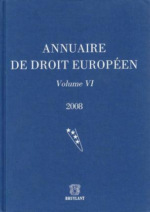 Annuaire de droit européen 2008