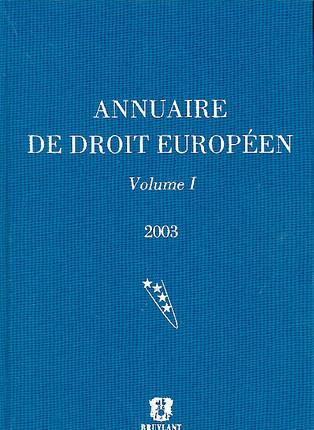 Annuaire de droit européen