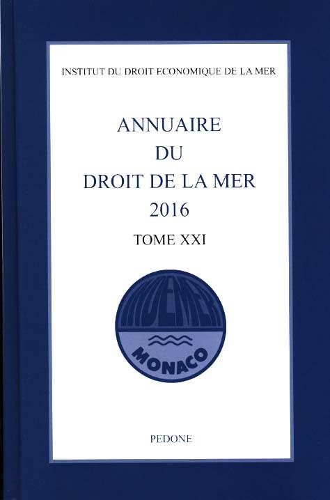 Annuaire du droit de la mer 2016