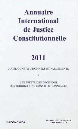 Annuaire international de justice constitutionnelle 2011