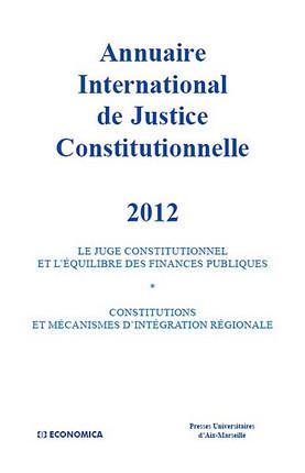 Annuaire international de justice constitutionnelle 2012