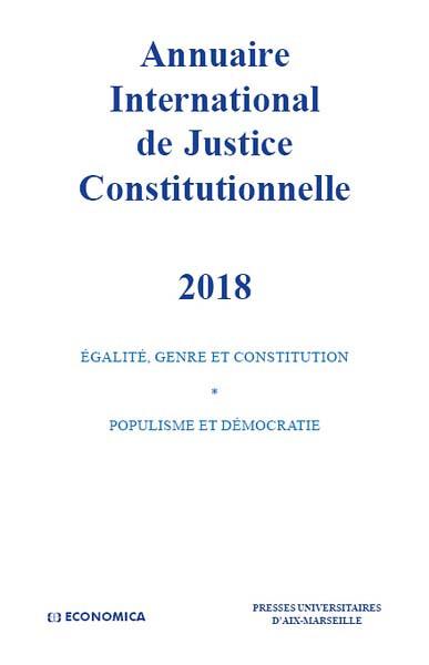 Annuaire International de Justice Constitutionnelle 2018