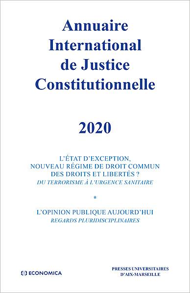 Annuaire International de Justice Constitutionnelle 2020