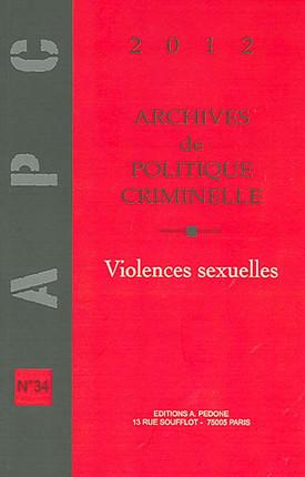 Archives de politique criminelle, 2012