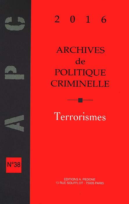 Archives de politique criminelle 2016
