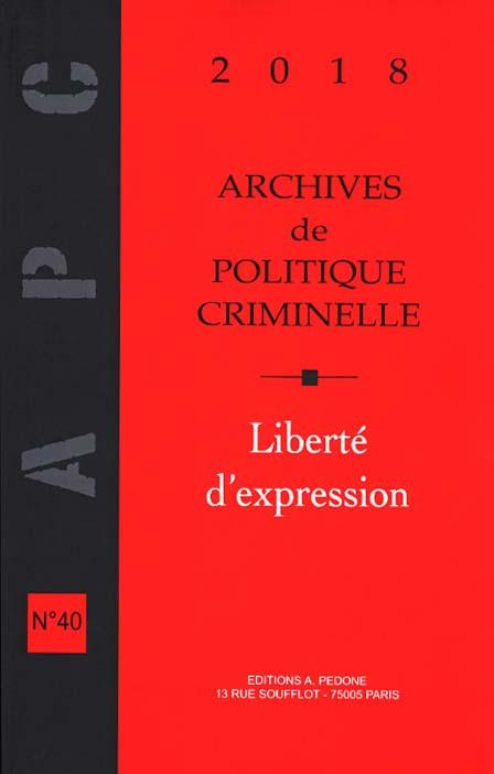 Archives de politique criminelle 2018