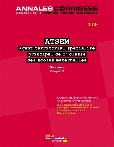 ATSEM Agent territorial spécalisé principal de 2e classe des écoles maternelles 2019
