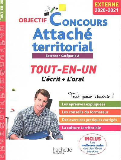 Attaché territorial : externe, catégorie A 2020-2021