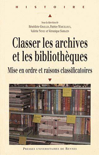 Classer les archives et les bibliothèques