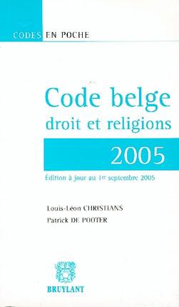Code belge droit et religions 2005