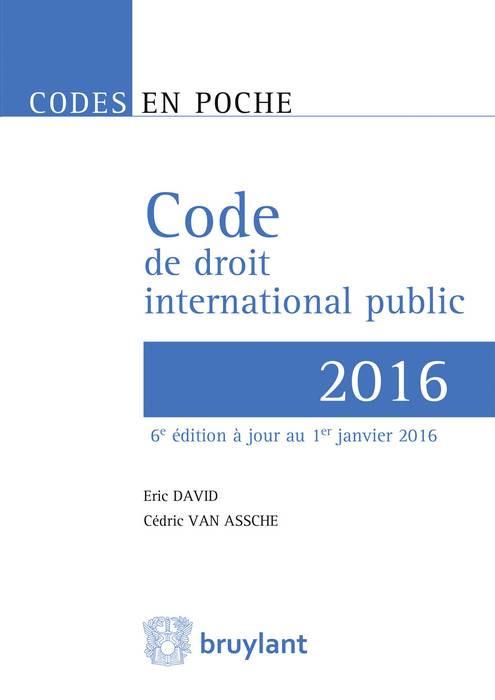 Code de droit international public 2016