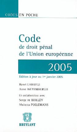 Code de droit pénal de l'Union européenne