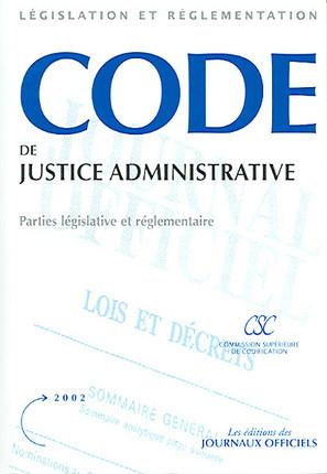 Code de justice administrative 2002