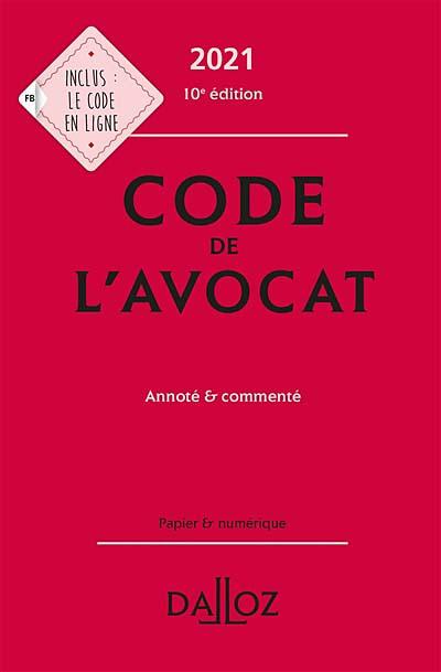 Code de l'avocat 2021