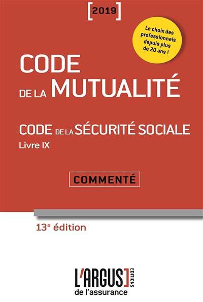 Code de la mutualité 2019
