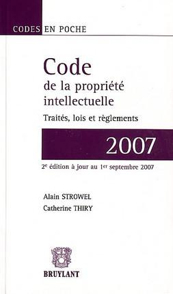 Code de la propriété intellectuelle 2007