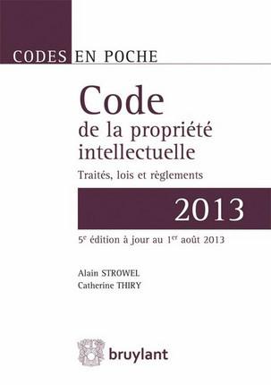 Code de la propriété intellectuelle - 2013