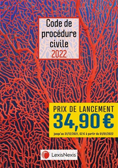 Code de procédure civile 2022 (jaquette amovible corail)