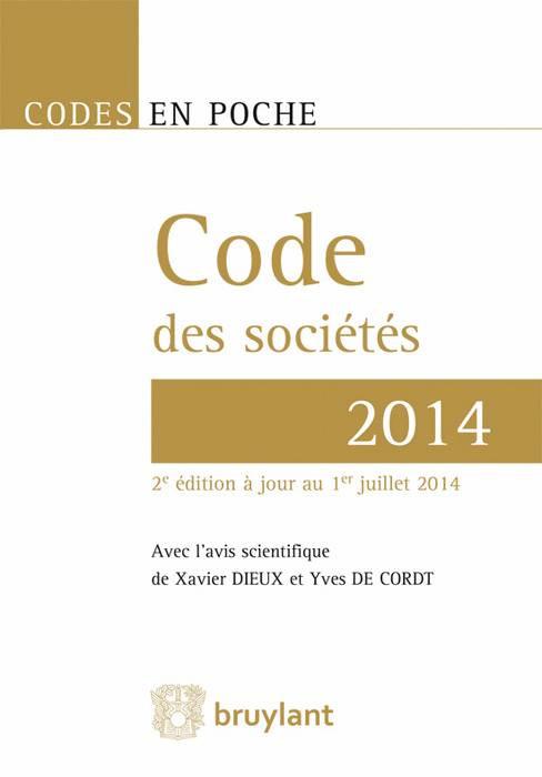 Code des sociétés 2014
