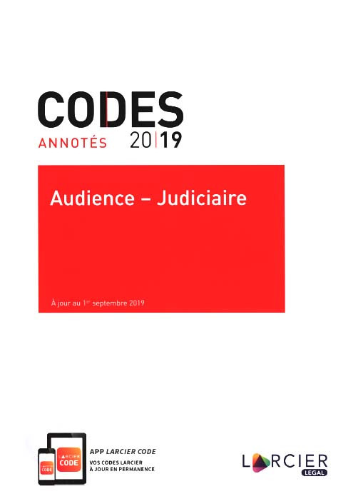 Codes annotés 2019 - Audience-Judiciaire