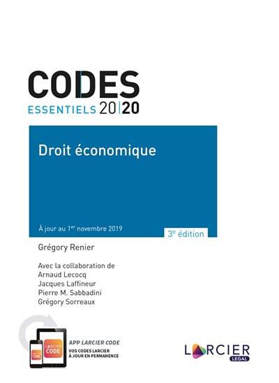 Codes essentiels 2020 - Droit économique