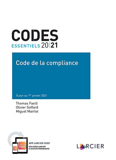 Codes essentiels - Code de la compliance 2021