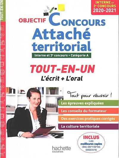 Concours attaché territorial : interne et 3e concours, catégorie A 2020-2021