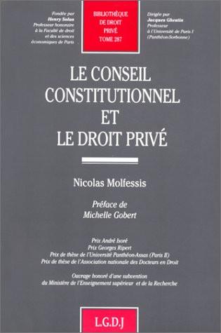 Conseil constitutionnel et droit privé