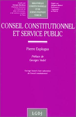 Conseil constitutionnel et service public
