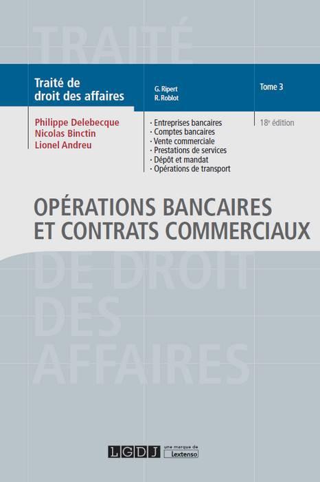 Opérations bancaires et contrats commerciaux
